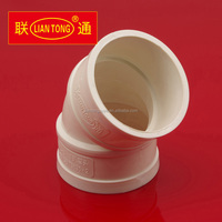 Liantong UPVC 45 degree elbow for drainage pipes, cheap pvc-u drainage pipe fittings manufacturer