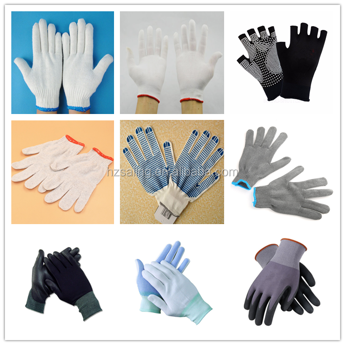 China Supplier Working Cotton Gloves Protective White Hand Gloves