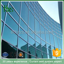 Wind Load Aluminium Frame Glass Wall Cladding