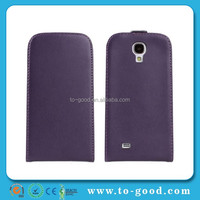 Hot Best Product Factory Dirctly Cheap Leather Flip Down Cover For Samsung Phone Case Galaxy S4 Case(Purple)
