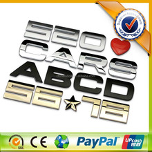 Custom 3D ABS chrome car logo emblem with 3M adhesive sticker