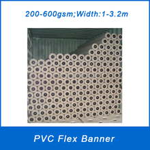 Flex fabric banner material with different sizes 0.914/1.27/1.37/1.52