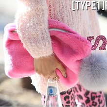 Alibaba in russian winter handbag manufacturer 2016 colorful ladies fashion bag online shopping fur clutch bags SY5886