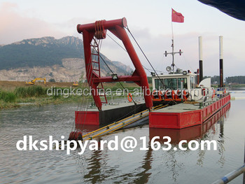 China Qingzhou DingKe 14 inch hydraulic cutter suction dredger