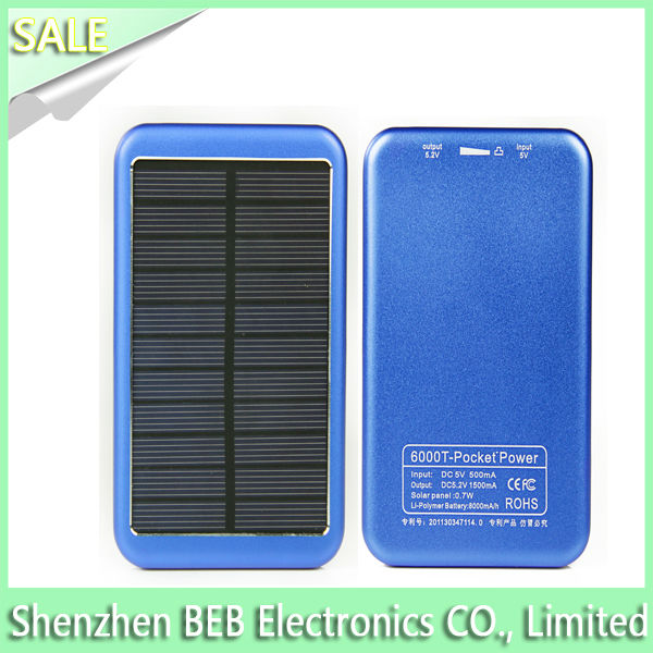 Hot selling 8000mah shenzhen solar battery charger