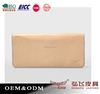 nude pink fashional durable men's purse with 8slots and2 cheque holder