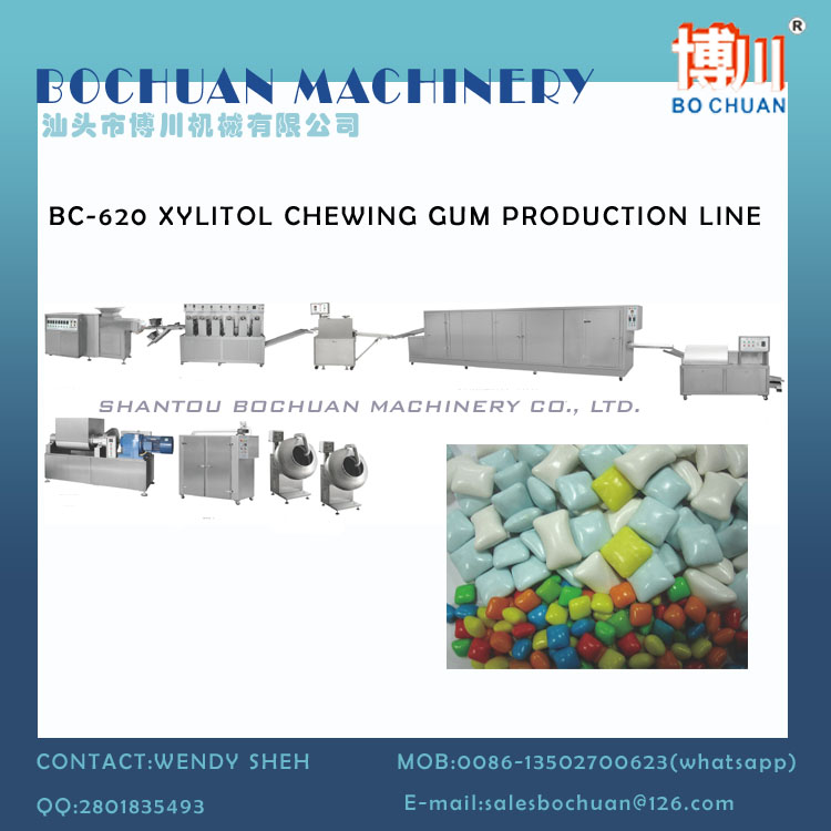 XYLITOL CHEWING GUM MAKING MACHINE CANDY LINE BUBBLE GUM MACHINERY