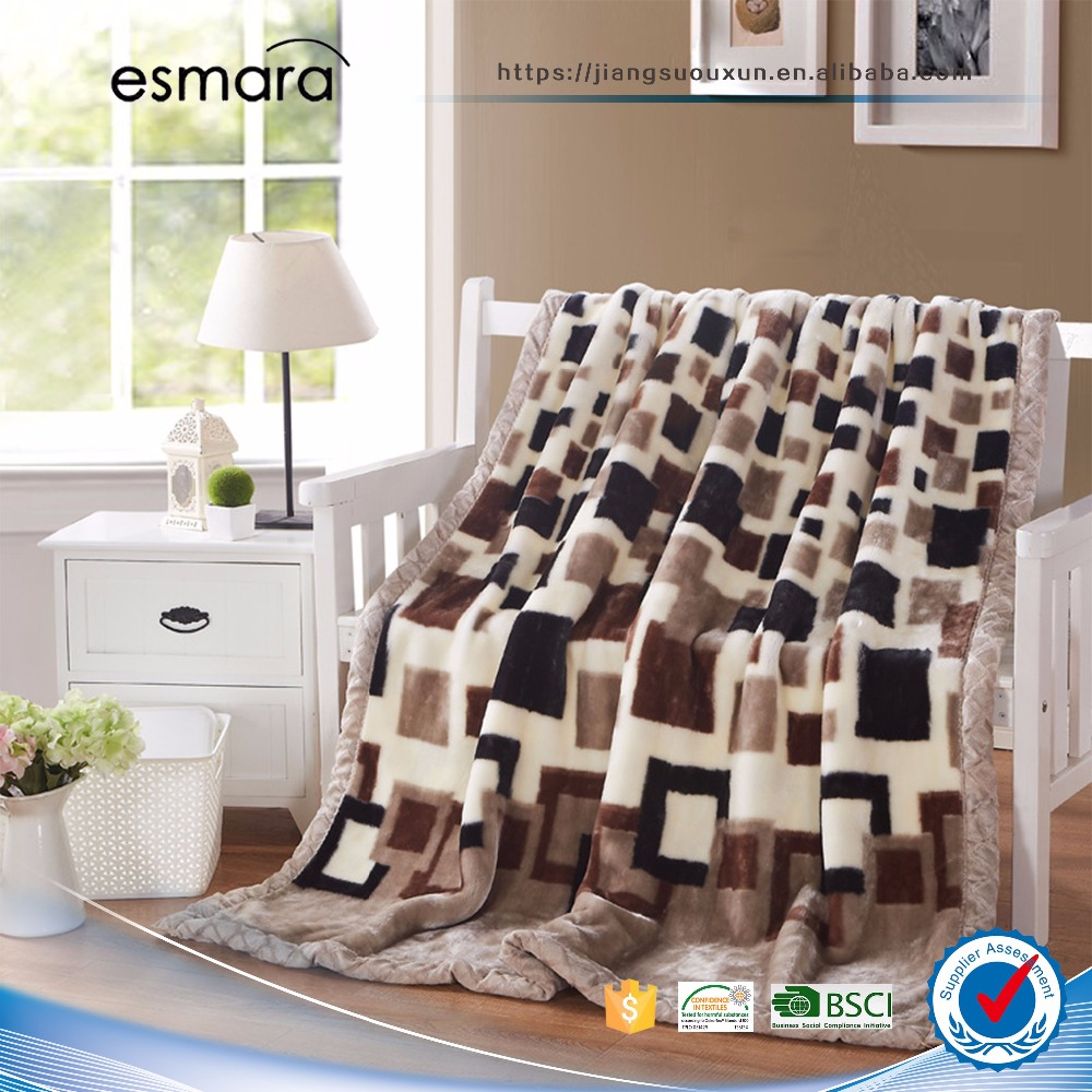 wholesale wool adult tv plaid blanket