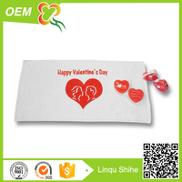 promotional cheap cotton towel valentine return gift