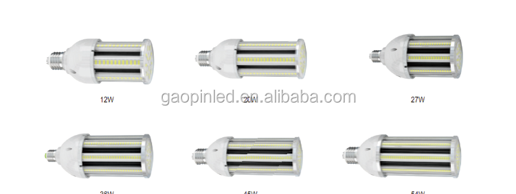 2018 New Product E27 E40 45 Watt Dimmable LED Corn Bulb 1500 5500 12000 lumen 300 Watt Equivalent 6000K for street