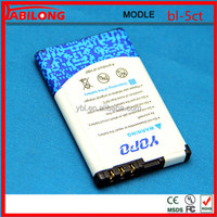 bl-5ct 1050mAh mobile battery for NOKIA 5220XM 6303C 6730C C3-01 C3-01m C5-00 C5-02 C6-01