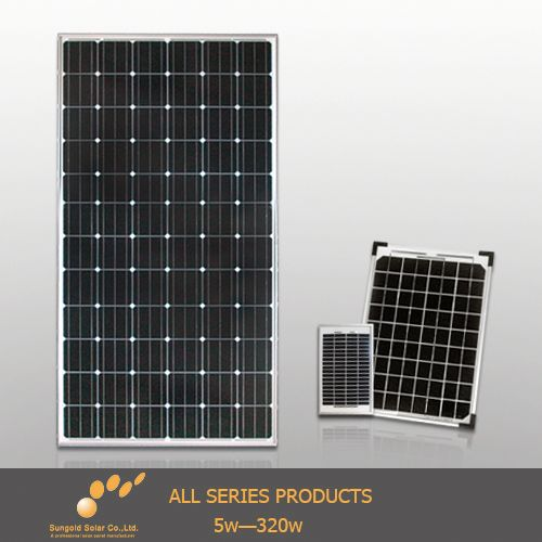 Hot 70 watt photovoltaic solar panel for high efficiency