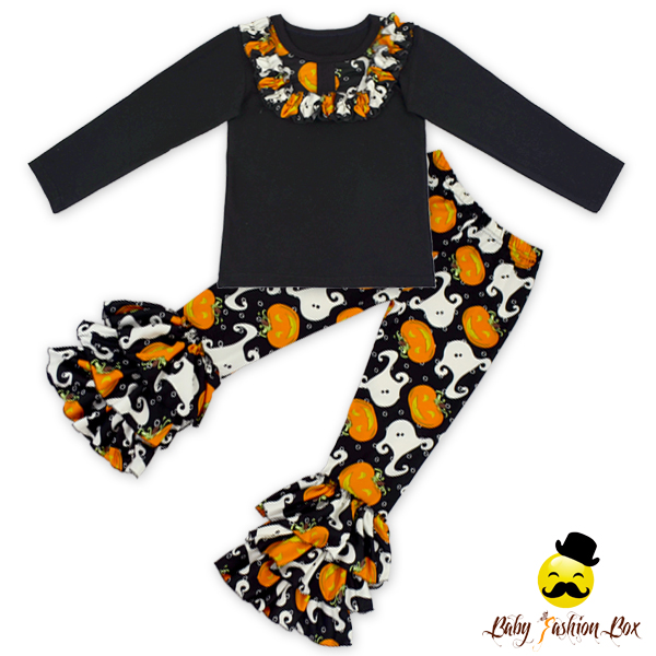 Spring Boutique Girl Clothing Halloween Outfit Girls Clothing Sets Kids Wholesale