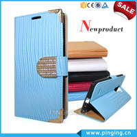 Luxury Electroplate Diamond Magnet Wallet Style PU Leather Case Cover For Gionee Marathon M5 Mini With Stand