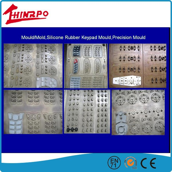 Compression rubber keypad Mould & keypad silicon molds &keypad injection moulding