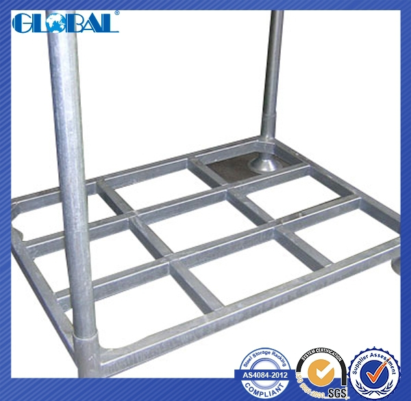 Steel tube structure of stacker <strong>rack</strong> for warehouse storage