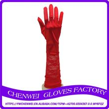 Best Prices custom design red lace gilding leather party sexy glove