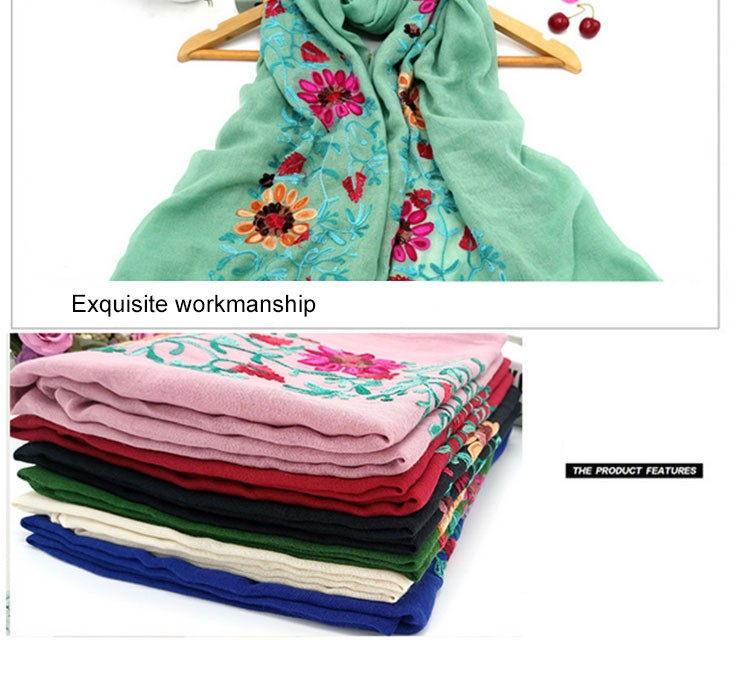 Hmong Wholesale Embroidery Cotton Scarf Hijab