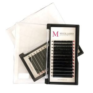 Popular handmade individual own brand eyelashes private label individual eyelashes extension professional 0.15 0.20mm