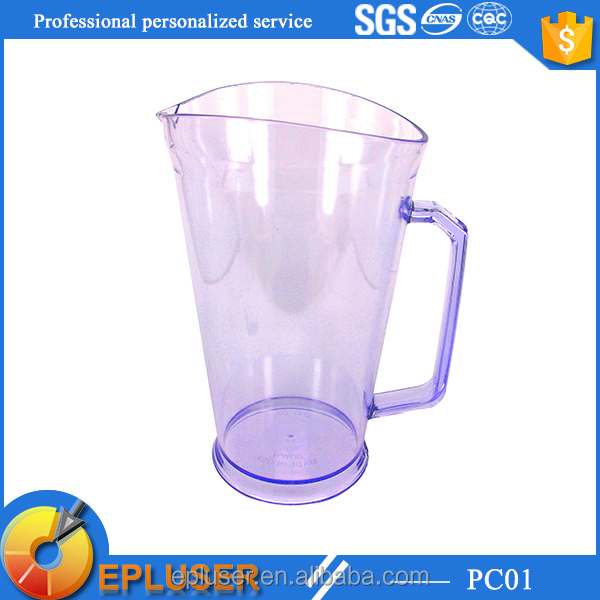 32oz plastic promotional Beer Jug, beer pitcher with ice holder