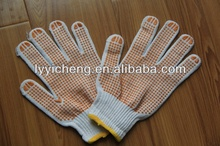 high quality PVC dotted safety glove for construction