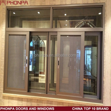 Outdoor aluminum sliding window with mosquito net