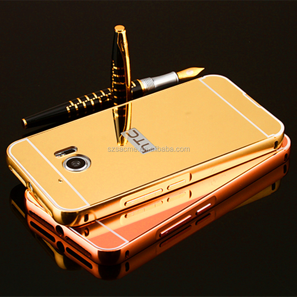 2017 Trending Products Electroplated Metal Mirror Aluminum Bumper Hard Case for HTC Desire 530