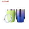 OEM/ODM Wholesale 12oz Stainless Steel Vacuum Insulated Shot Glass Wine Tea Mug with Lid Bpa Free Tumbler Tea Water Cup