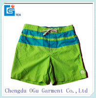stylish quality 100% microfiber twill polyester men swimming & jogger trunks