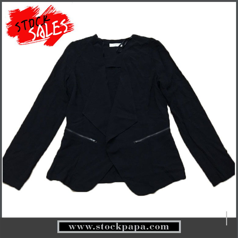 Latest design winter long sleeves ladies office formal blazer