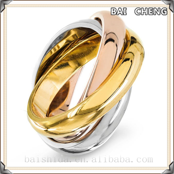 2016 New Gold Coating Fashion Stainless steel ring