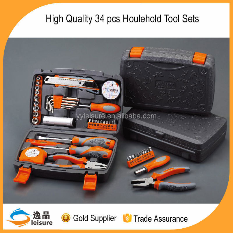 2016 China Gold supplier new design 34pcs Hand Tool
