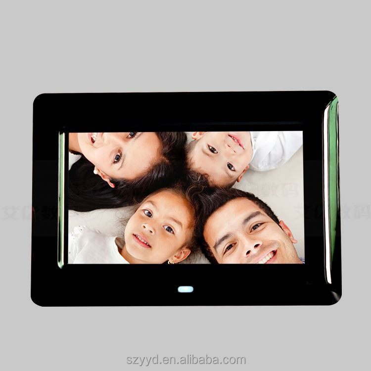 acrylic frame 7 inch digital photo viewer logo printing