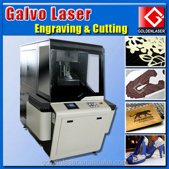 Galvo Laser Machine Cutting Engraving Leather with Fast Speed