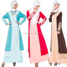 K1236A 2017 New Style Abaya Long Sleeve Maxi Kaftan Muslim Dress For Islamic Women Girl Name Muslimah Clothing