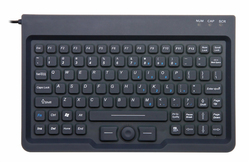 Compact Size Industrial Keyboard with Built-in Mouse USB and PS/2 rugged and waterproof JH-IKB85