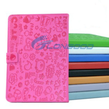 Cute Cartoon Animal Protect Cover PU Leather Case Stand For iPad Mini