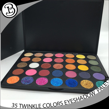 Private Label Make Up Cosmetics no brand wholesale makeup Pressed Glitter 35 colors Eyeshadow
