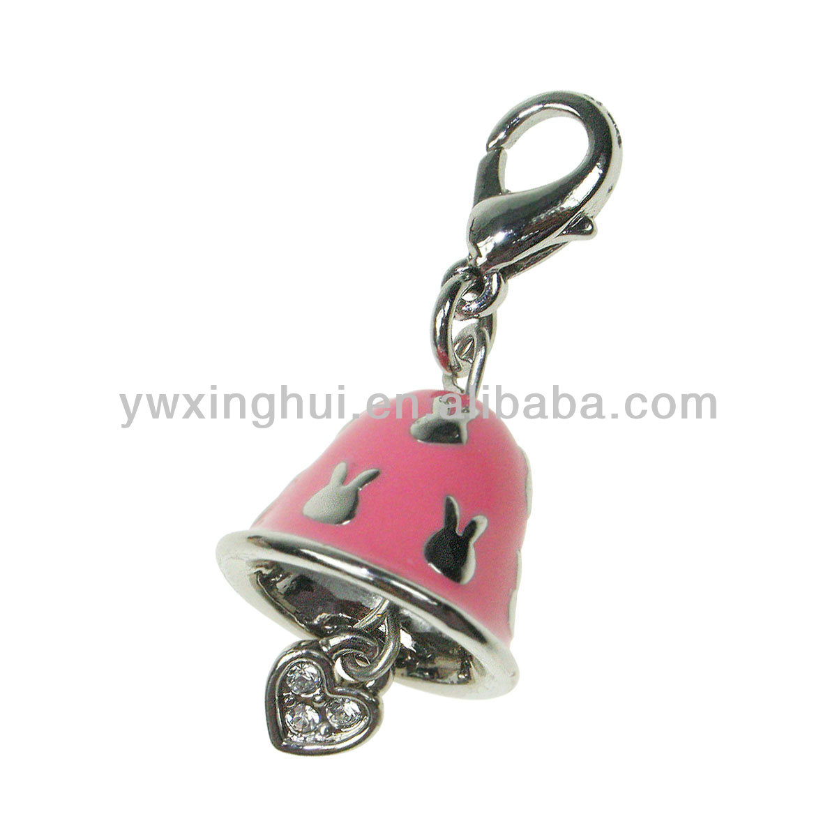 Wholesale enamel bell kids charm, charm for bracelet