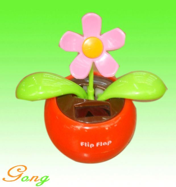 Hot Sale 2014 Various Styles Solar Plastic Flip Flap Dancing Flower For Wholesale