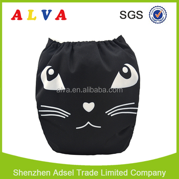 ALVABABY Digital Position Baby Washable Diapers Ecological Cloth Diaper Factory in China