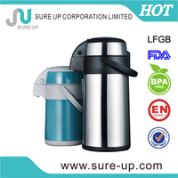 material of cap/handle/base:PP stainless steel hot water pot with 4.0L(ASUC)
