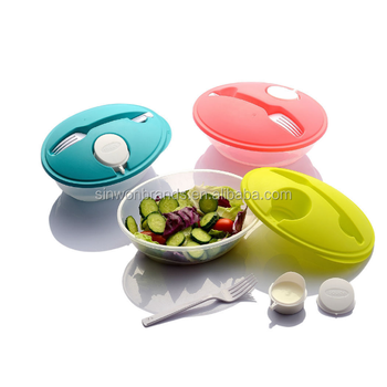 plastic salad lunch bowl (2122223)