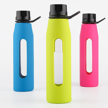 High-grade Borosilicate Glass Water Bottle With Silicone sleeve