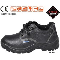 Work land safety shoes with low cut and genuine leather