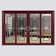 Interior Wooden Glass Sliding doors Aluminium glass folding door Interior shutters sliding glass doors