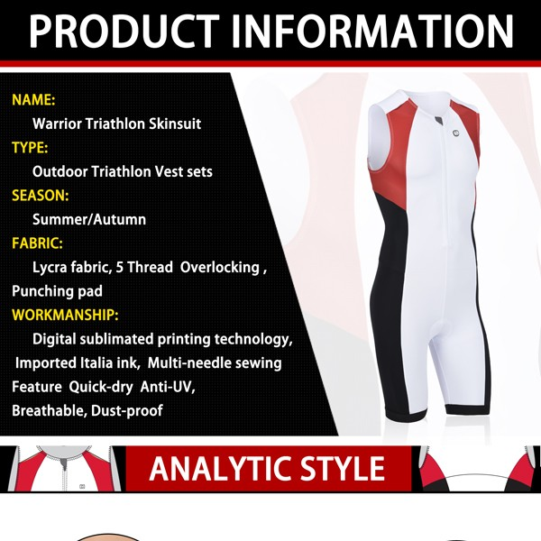 Warrior triathlon lycra fabric for riding with breathable triathlon jersey set