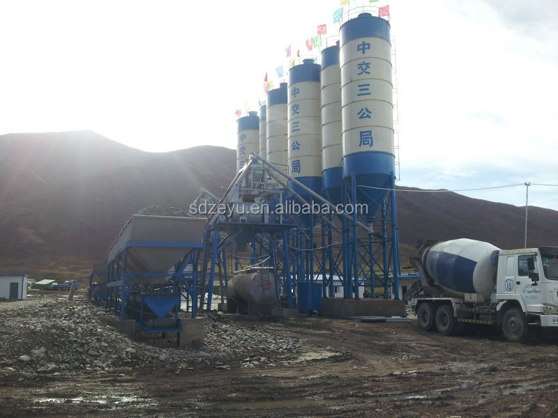 dry mix concrete batch plant HZS50