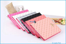 Shenzhen factory leather case cover for ipad mini tablet cases cover with fashion rivet mosaic design for ipad air.air2