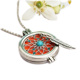 Hot sale Zinc Alloy Jewelry Open Antique Vintage Locket Pendant Aromatherapy Necklace Essential Oil Diffuser Necklace With Pads